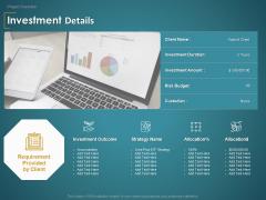 Financial Consultancy Proposal Investment Details Ppt PowerPoint Presentation Slides Background Designs PDF