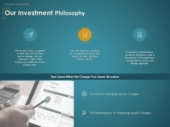 Financial Consultancy Proposal Our Investment Philosophy Ppt PowerPoint Presentation Show Layouts PDF