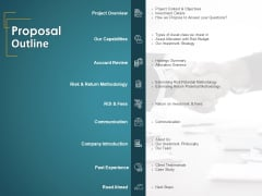 Financial Consultancy Proposal Proposal Outline Ppt PowerPoint Presentation Model Mockup PDF