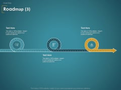Financial Consultancy Proposal Roadmap Three Flow Process Ppt PowerPoint Presentation Styles Rules PDF