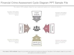 Financial Crime Assessment Cycle Diagram Ppt Sample File
