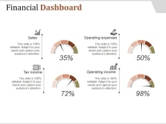 Financial Dashboard Ppt PowerPoint Presentation Influencers