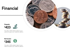 Financial Deposits Net Income Ppt PowerPoint Presentation Outline Structure
