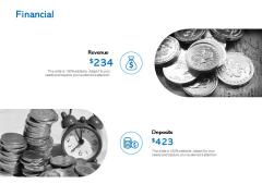 Financial Deposits Ppt PowerPoint Presentation Inspiration Sample