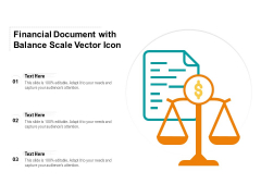 Financial Document With Balance Scale Vector Icon Ppt PowerPoint Presentation Professional Graphics Tutorials PDF