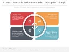 Financial Economic Performance Industry Group Ppt Sample