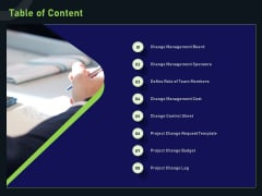 Financial Estimation Revamping Table Of Content Ppt Slides Design Inspiration PDF