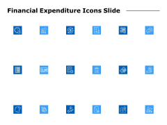 financial expenditure icons slide ppt powerpoint presentation ideas maker