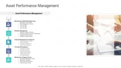 Financial Functional Assessment Asset Performance Management Ppt Portfolio Smartart PDF
