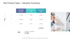 Financial Functional Assessment Net Present Value Valuation Summary Download PDF