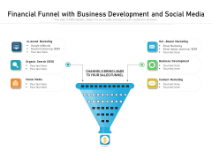 Financial Funnel With Business Development And Social Media Ppt PowerPoint Presentation Gallery Show PDF