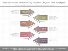 Financial Goals And Planning Process Diagram Ppt Examples