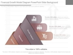 Financial Growth Model Diagram Powerpoint Slide Background