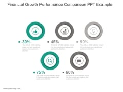 Financial Growth Performance Comparison Ppt Example