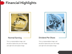 Financial Highlights Ppt PowerPoint Presentation Model Show