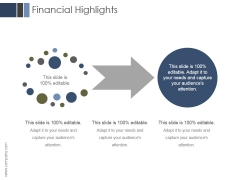 Financial Highlights Ppt PowerPoint Presentation Outline