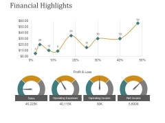 Financial Highlights Template 1 Ppt PowerPoint Presentation Gallery Templates