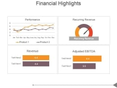 Financial Highlights Template 1 Ppt PowerPoint Presentation Model