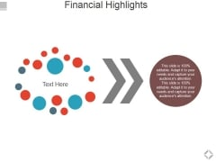 Financial Highlights Template 1 Ppt PowerPoint Presentation Styles Brochure