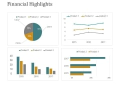 Financial Highlights Template 2 Ppt PowerPoint Presentation Ideas Pictures