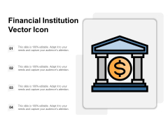 Financial Institution Vector Icon Ppt PowerPoint Presentation Styles Master Slide