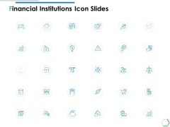 Financial Institutions Icon Slides Ppt PowerPoint Presentation Model Guidelines