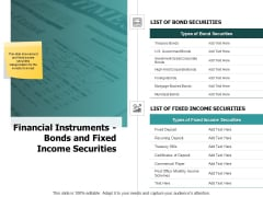 Financial Instruments Bonds And Fixed Income Securities Ppt PowerPoint Presentation Show Graphics Pictures