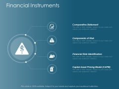Financial Instruments Comparative Statement Ppt Powerpoint Presentation Outline Objects