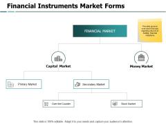 Financial Instruments Market Forms Capital Market Ppt PowerPoint Presentation Show Sample