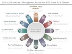 Financial Investment Management Techniques Ppt Powerpoint Themes