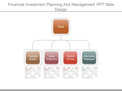 Financial Investment Planning And Management Ppt Slide Design