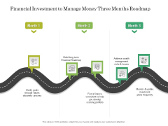 Financial Investment To Manage Money Three Months Roadmap Introduction