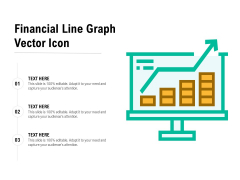 Financial Line Graph Vector Icon Ppt PowerPoint Presentation Infographic Template Mockup