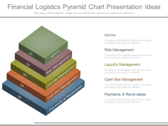 Financial Logistics Pyramid Chart Presentation Ideas