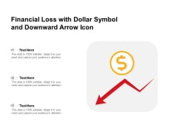 Financial Loss With Dollar Symbol And Downward Arrow Icon Ppt PowerPoint Presentation File Background Image PDF