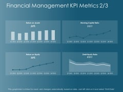 Financial Management Kpi Metrics Business Ppt Powerpoint Presentation Styles Diagrams