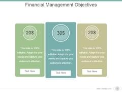 Financial Management Objectives Ppt PowerPoint Presentation Inspiration