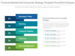 Financial Markets And Corporate Strategy Template Powerpoint Shapes