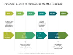 Financial Money To Success Six Months Roadmap Infographics
