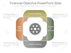Financial Objective Powerpoint Slide