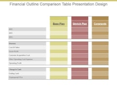 Financial Outline Comparison Table Presentation Design