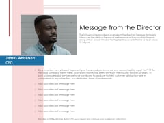 Financial PAR Message From The Director Ppt Slides Example PDF