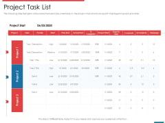 Financial PAR Project Task List Ppt Slides Portrait PDF