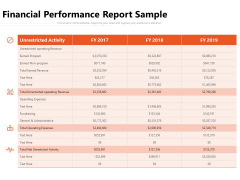Financial Performance Report Sample Ppt PowerPoint Presentation Gallery Gridlines PDF