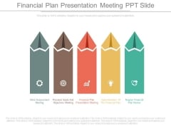 Financial Plan Presentation Meeting Ppt Slide