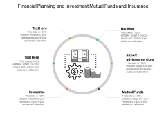 Financial Planning And Investment Mutual Funds And Insurance Ppt PowerPoint Presentation Icon Clipart