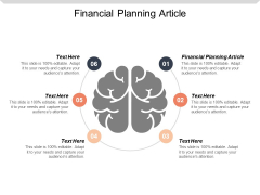 Financial Planning Article Ppt PowerPoint Presentation Designs Cpb
