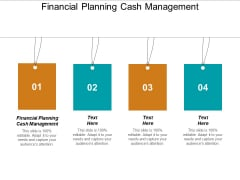 Financial Planning Cash Management Ppt PowerPoint Presentation Infographic Template Display Cpb