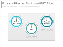 Financial Planning Dashboard Ppt Slide