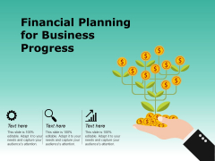 Financial Planning For Business Progress Ppt PowerPoint Presentation Summary Background Images